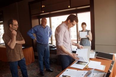 AIGA Minnesota Portfolio 1 on 1 Larsen Design Scholarship judging.