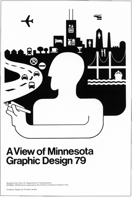 A View of Minnesota Graphic Design Exhibition Invitation, Design by Tim Larsen, December 1978
