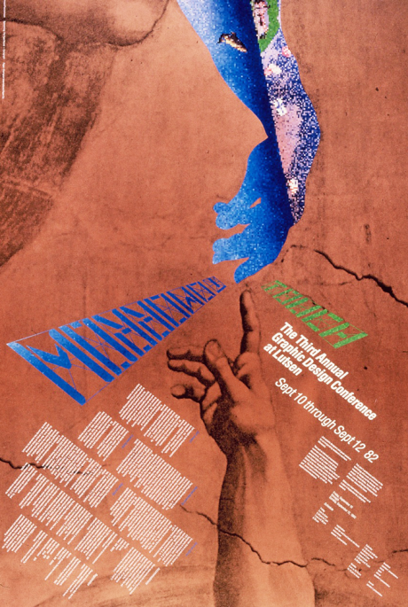 Lutsen Design Conference Poster, designed by James Johnson, 1982