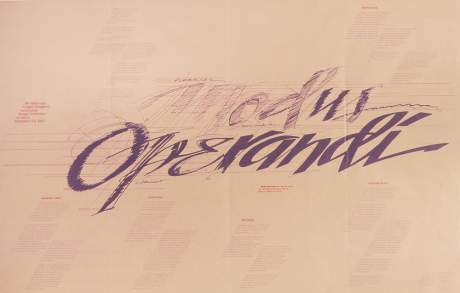 Lutsen Design Conference Poster, designed by Todd Nesser and Malka Michaelson, calligraphy by Tim Girvin, 1983