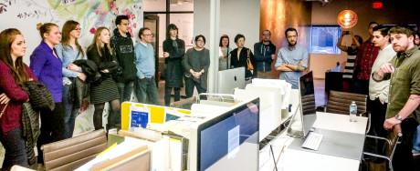 Solopreneurs visit KNOCK 2 - Workstations at TREAT (Sandra Theis)