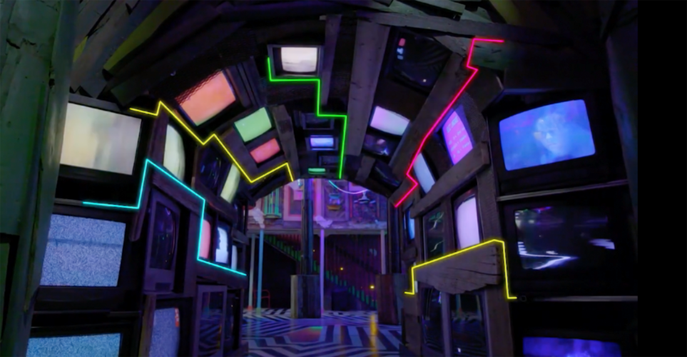 Meow Wolf - TV Tunnel in The House of Eternal Return