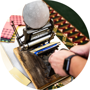 Letterpress printing workshop at Design Camp 2019
