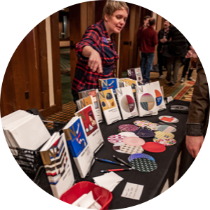Neenah Paper sample table at Design Camp 2019